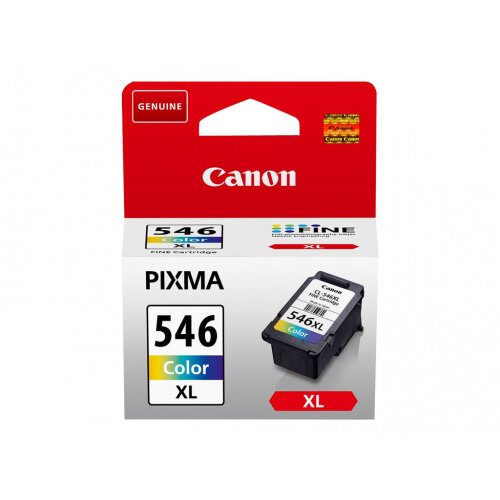 Canon CL-546XL - 13 ml - High Yield - colour (cyan, magenta, yellow) - original - blister with security - ink cartridge - for PIXMA MG2550, MG2555, MG2950, MG3050, MG3051, MG3052, MG3053, TS205, TS305, TS3150, TS3151