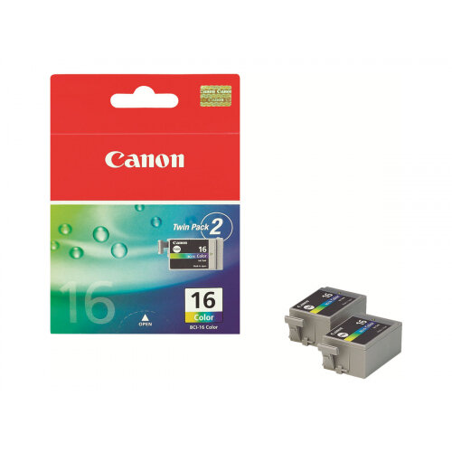 Canon BCI-16 - 2-pack - yellow, cyan, magenta - original - ink tank - for i90; PIXMA iP90, iP90v, mini220; SELPHY CP500, DS700, DS810