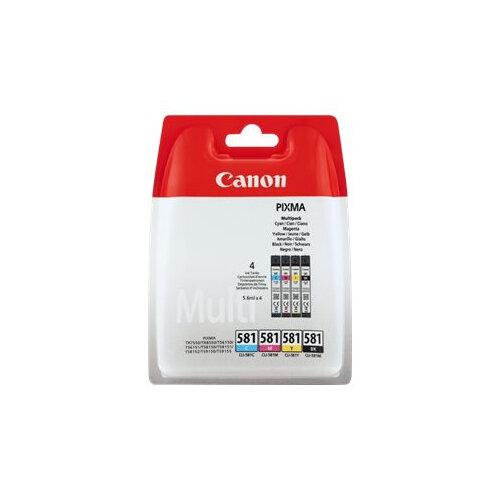Canon CLI-581 BK/C/M/Y Multi Pack - 4-pack - 5.6 ml - black, yellow, cyan, magenta - original - blister - ink tank - for PIXMA TS6150, TS6151, TS8150, TS8151, TS8152, TS9150, TS9155