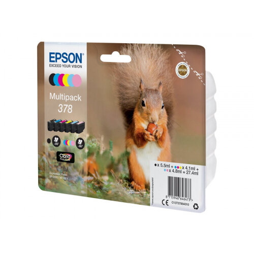Epson Multipack 378 - 6-pack - black, yellow, cyan, magenta, light magenta, light cyan - original - blister - ink cartridge - for Expression Photo XP-8500, XP-8500 Small-in-One, XP-8505