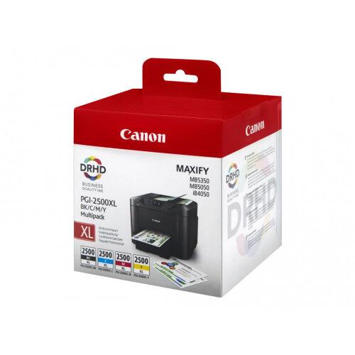 Canon PGI-2500XL C/M/Y/BK - 4-pack - black, yellow, cyan, magenta - original - ink tank - for MAXIFY iB4050, iB4150, MB5050, MB5150, MB5155, MB5350, MB5450, MB5455