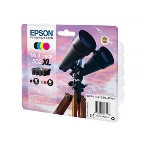 Epson 502XL Multipack - 4-pack - XL - black, yellow, cyan, magenta - original - blister - ink cartridge - for Expression Home XP-5100, XP-5105; WorkForce WF-2860, WF-2860DWF, WF-2865DWF