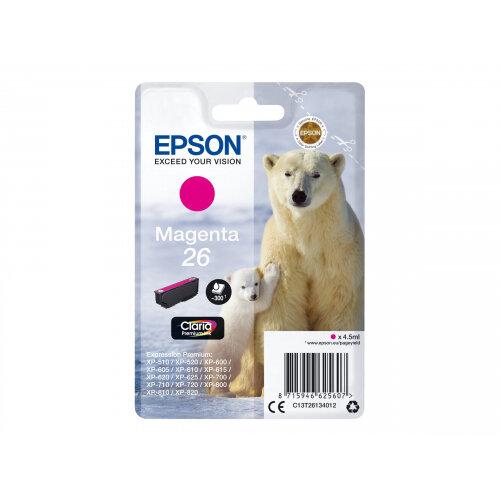 Epson 26 - 4.5 ml - magenta - original - ink cartridge - for Expression Premium XP-510, 520, 600, 605, 610, 615, 620, 625, 700, 710, 720, 800, 810, 820