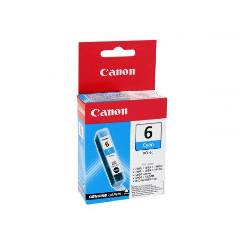 Canon BCI-6C - Cyan - original - ink tank - for i96X, 990, 99XX; PIXMA IP3000, IP4000, iP5000, iP6000, iP8500, MP750, MP760, MP780; S830