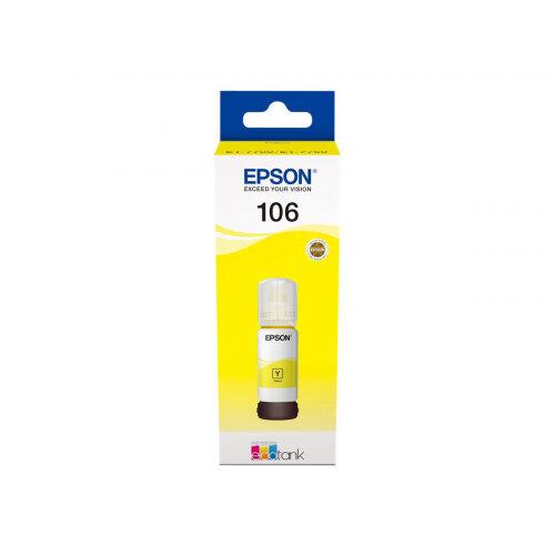 Epson 106 - 70 ml - yellow - original - ink tank - for EcoTank ET-7700, ET-7750; Expression Premium ET-7700, ET-7750