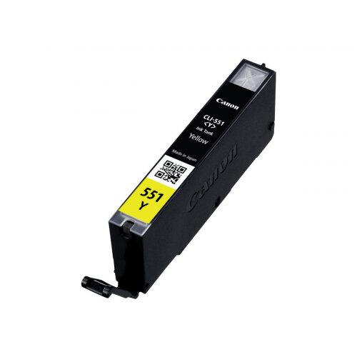 Canon CLI-551Y - Yellow - original - ink tank - for PIXMA iP8750, iX6850, MG5550, MG5650, MG5655, MG6450, MG6650, MG7150, MG7550, MX725, MX925