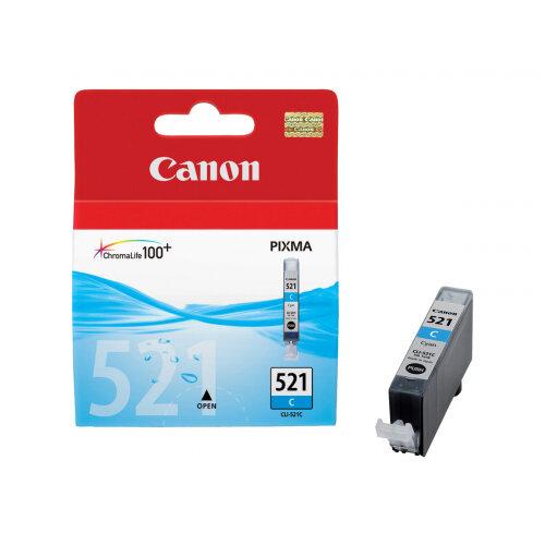 Canon CLI-521C - 9 ml - cyan - original - ink tank - for PIXMA iP3600, iP4700, MP540, MP550, MP560, MP620, MP630, MP640, MP980, MP990, MX860, MX870