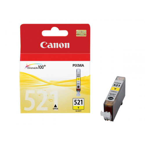 Canon CLI-521Y - 9 ml - yellow - original - ink tank - for PIXMA iP3600, iP4700, MP540, MP550, MP560, MP620, MP630, MP640, MP980, MP990, MX860, MX870