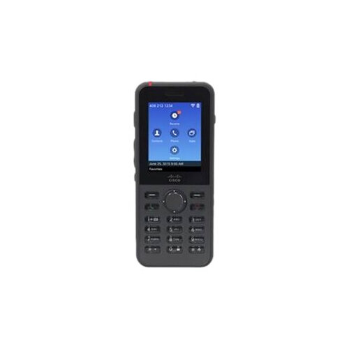 Cisco IP Phone 8821 - Cordless extension handset - Bluetooth interface - IEEE 802.11a/b/g/n/ac (Wi-Fi) - SIP - 6 lines