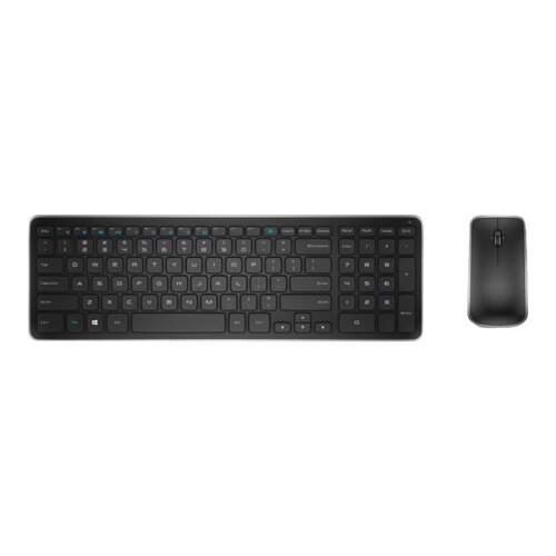Dell KM714 - Keyboard and mouse set - wireless - 2.4 GHz - UK/Irish - for Inspiron 15 N5030, 15 N5040, 15 N5050, 24 3464, 32XX, 5348; Latitude 5414, 7214, 7414