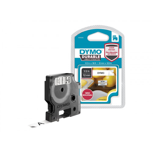 DYMO D1 - Self-adhesive - black on white - Roll (1.2 cm x 5.5 m) 1 roll(s) label tape