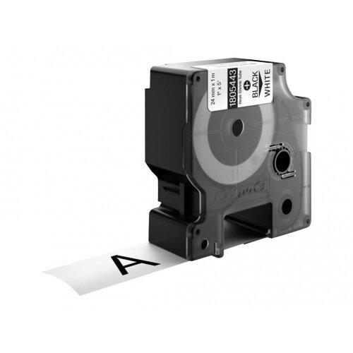 DYMO Rhino Heat Shrink Tubes - Black on white - Roll (2.4 cm x 1.5 m) tube - for Rhino 4200, 6000, 6000 Hard Case Kit, 6500; RhinoPRO 6500 Professional Labeling Bundle
