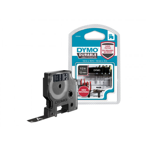 DYMO D1 - Self-adhesive - white on black - Roll (1.2 cm x 3 m) 1 roll(s) label tape