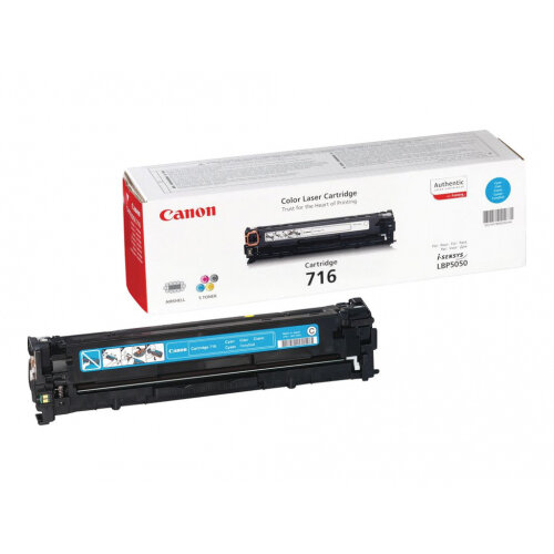 Canon 716 Cyan - Cyan - original - toner cartridge - for i-SENSYS LBP5050, LBP5050N, MF8030CN, MF8040Cn, MF8050CN, MF8080Cw