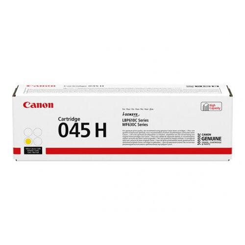 Canon 045 H - High capacity - yellow - original - toner cartridge - for ImageCLASS LBP612, LBP613, MF633, MF635; i-SENSYS LBP611, LBP613, MF631, MF633, MF635