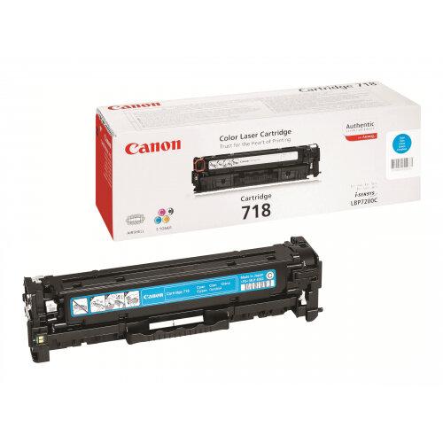 Canon 718 Cyan - Cyan - original - toner cartridge - for i-SENSYS LBP7210, LBP7680, MF728, MF729, MF8340, MF8360, MF8380, MF8540, MF8550, MF8580