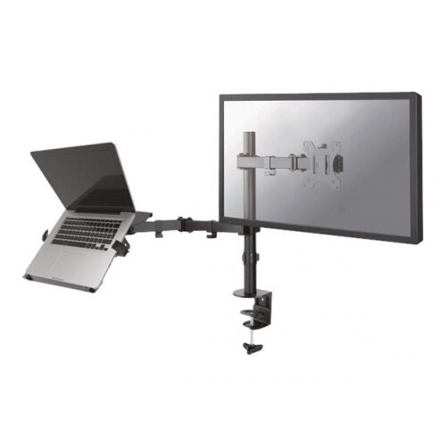 "NewStar Full Motion and Desk Mount - Adjustable Arm, LCD/Notebook, Black, Screen Size 10-32"", 8kg/5kg Max Weight, Cable System &360 Degree Rotation (FPMA-D550NOTEBOOK)"