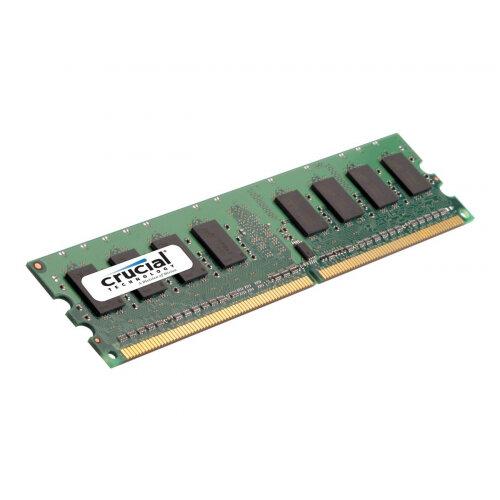 Crucial - DDR2 - 2 GB - DIMM 240-pin - 800 MHz / PC2-6400 - CL6 - 1.8 V - unbuffered - non-ECC - for ASUS M2N, M2N32; BFG NVIDIA nForce 680; ECS 761, G31; Intel Desktop Board DG31, DP35, DQ35