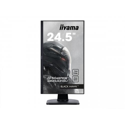 "Iiyama G-MASTER Black Hawk GB2530HSU-B1 - LED Computer Monitor - 24.5"" - 1920 x 1080 Full HD (1080p) - TN - 250 cd/m² - 1000:1 - 1 ms - HDMI, VGA, DisplayPort - speakers - black"