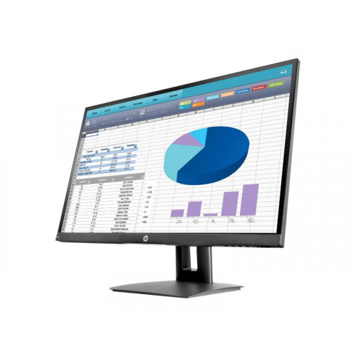 "HP VH27 - LED Computer Monitor - 27"" (27"" viewable) - 1920 x 1080 Full HD (1080p) - IPS - 250 cd/m² - 1000:1 - 5 ms - HDMI, VGA, DisplayPort - black - promo"