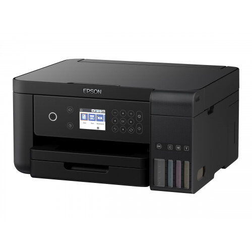 Epson EcoTank ET-3700 - Multifunction printer - colour - ink-jet - A4/Legal (media) - up to 33 ppm (printing) - 150 sheets - USB, LAN, Wi-Fi