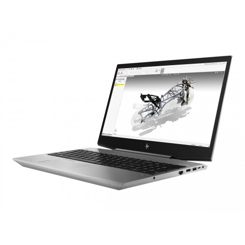 "HP ZBook 15v G5 Mobile Workstation  Laptop - Core i7 8750H / 2.2 GHz - Win 10 Pro 64-bit - 16 GB RAM - 256 GB SSD (16 GB SSD cache) - 15.6"" 1920 x 1080 (Full HD) - Quadro P600 / UHD Graphics 630 - Wi-Fi, Bluetooth - turbo silver - kbd: UK"