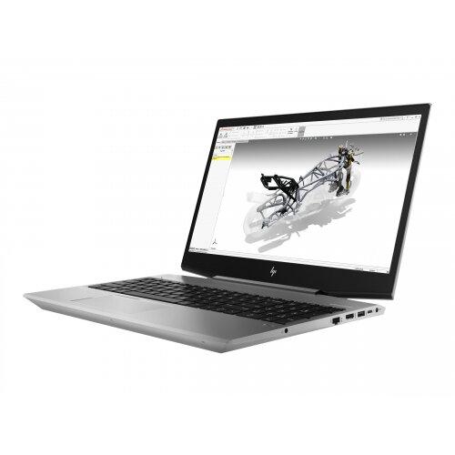 "HP ZBook 15v G5 Mobile Workstation  Laptop - Core i7 8850H / 2.6 GHz - Win 10 Pro 64-bit - 16 GB RAM - 512 GB SSD (16 GB SSD cache) NVMe - 15.6"" 1920 x 1080 (Full HD) - Quadro P600 / UHD Graphics 630 - Wi-Fi, Bluetooth - turbo silver - kbd: UK"