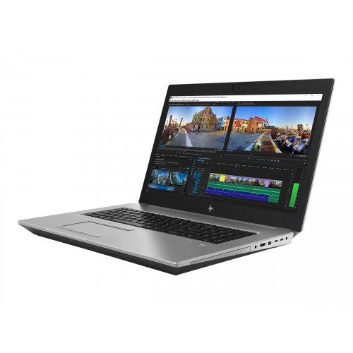 "HP ZBook 17 G5 Mobile Workstation  Laptop - Core i7 8850H / 2.6 GHz - Win 10 Pro 64-bit - 32 GB RAM - 512 GB SSD (16 GB SSD cache) NVMe, TLC - 17.3"" IPS 1920 x 1080 (Full HD) - Quadro P3200 - Wi-Fi, Bluetooth - turbo silver - kbd: UK"