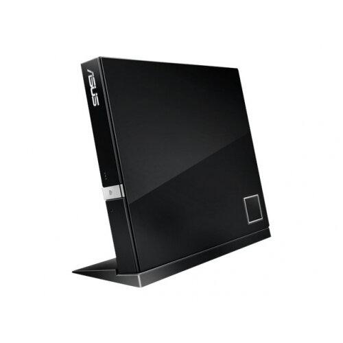 ASUS SBC-06D2X-U - Disk drive - DVD±RW (±R DL) / DVD-RAM / BD-ROM - 6x - USB 2.0 - external - black