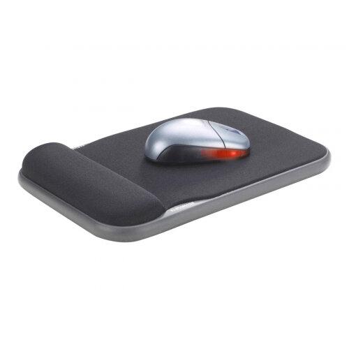 Kensington Sports Contour Gel Mouse Wrist Pad - Mouse pad with wrist pillow - black
