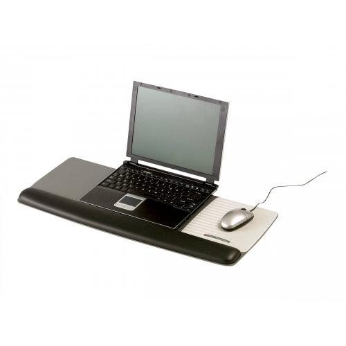 3M Tilt-Adjustable Platform for Keyboard and Mouse WR422LE - Keyboard/mouse wrist rest - black, metallic grey