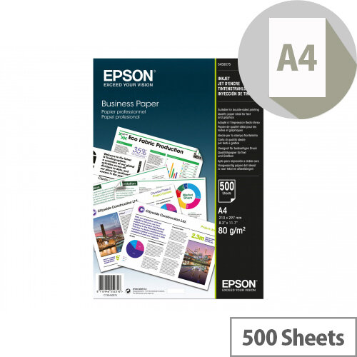 Epson Business Paper A4 80gsm White 500 Sheets