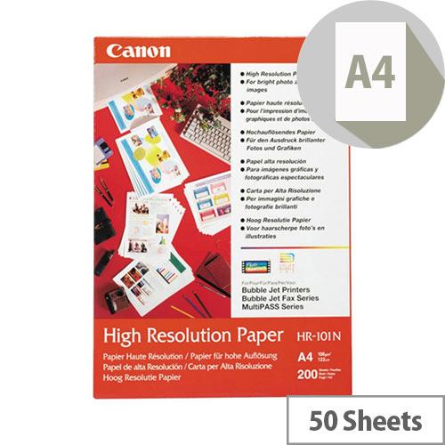 Canon HR-101 - A4 (210 x 297 mm) 50 sheet(s) plain paper - for PIXMA iP1000, IP4000, iP5000, iP6000, iP6210, iP6310, iP8500, MG2555, MG8250, MP110, MP130