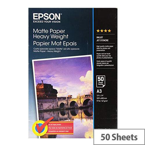 Epson - Matte - A3 (297 x 420 mm) - 167 g/m² - 50 sheet(s) paper - for EcoTank ET-16500; SureColor P5000, P800, SC-P10000, P20000, P5000