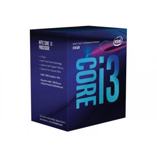 Intel Core i3 8100 - 3.6 GHz - 4 cores - 4 threads - 6 MB cache - LGA1151 Socket - Box