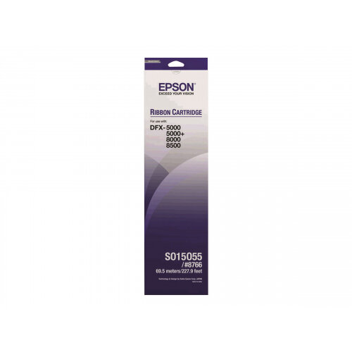 Epson - 1 - black - printer fabric ribbon - for DFX 5000, 8000, 8500