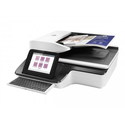 HP ScanJet Enterprise Flow N9120 fn2 Flatbed Scanner - Document scanner - Duplex - 297 x 864 mm - 600 dpi x 600 dpi - up to 120 ppm (mono) / up to 120 ppm (colour) - ADF (200 sheets) - up to 12000 scans per day - USB 2.0, Gigabit LAN, USB 2.0 (Host)