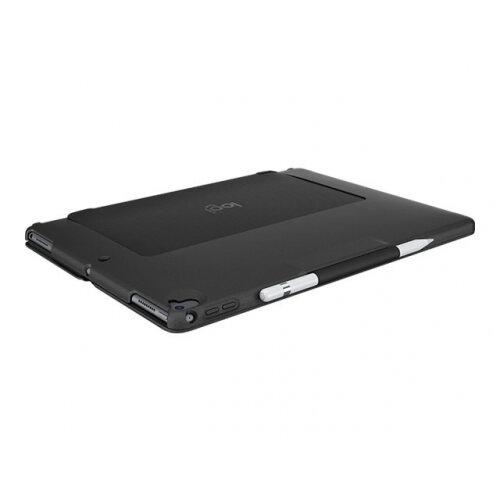 Logitech Slim Combo - Keyboard and folio case - backlit - Apple Smart connector - UK layout - black keyboard, black case - for Apple 10.5-inch iPad Pro