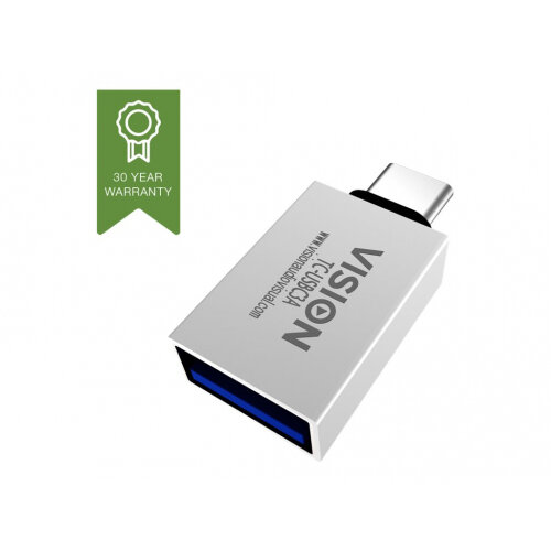 Vision - USB adapter - USB-C (M) to USB Type A (F) - USB 3.1 Gen 2 - white