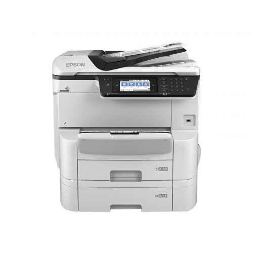 Epson WorkForce Pro WF-C8690DTWF - Multifunction printer - colour - ink-jet - A3/Ledger (media) - up to 22 ppm (copying) - up to 35 ppm (printing) - 835 sheets - 33.6 Kbps - Gigabit LAN, USB host, NFC, USB 3.0, USB 2.0 host, Wi-Fi(ac)