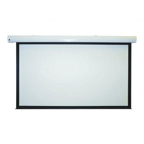 Metroplan Eyeline Pro electric screens - Projection screen - ceiling mountable, wall mountable - motorised - 100 in (254 cm) - 4:3 - Crisp Matte White - white powder coat