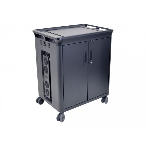 """HP 20 Managed Charging Cart V2 - Cart charge and management for 20 notebooks (open architecture) - lockable - HP black - screen size: 10.1""""-15.6"""""""