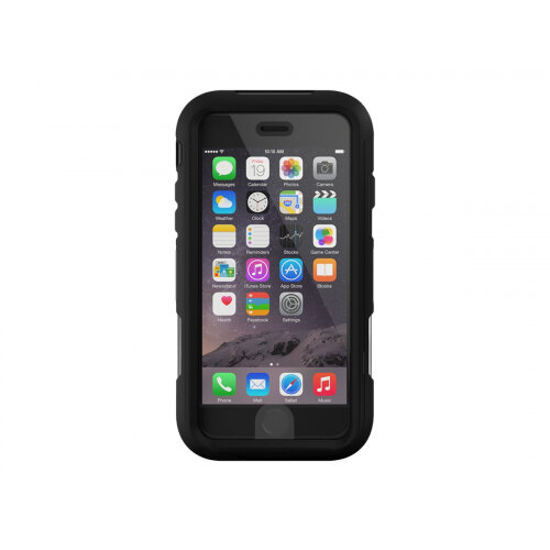 Griffin Survivor Summit - Protective case for mobile phone - rugged - silicone, polycarbonate, TPE - black, clear - for Apple iPhone 6 Plus