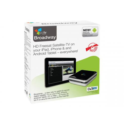 PCTV Broadway HD-S2 - Digital TV tuner / video capture adapter - DVB-S2 - Ethernet, 802.11n