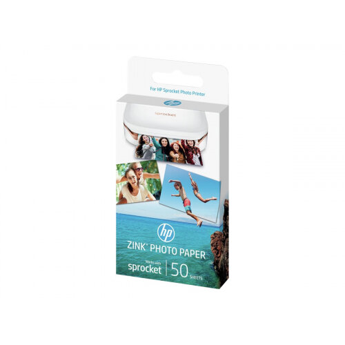 HP ZINK Sticky-Backed Photo Paper - Self-adhesive - gloss finish - 50 x 76 mm - 290 g/m² - 50 sheet(s) photo paper - for Sprocket Photo