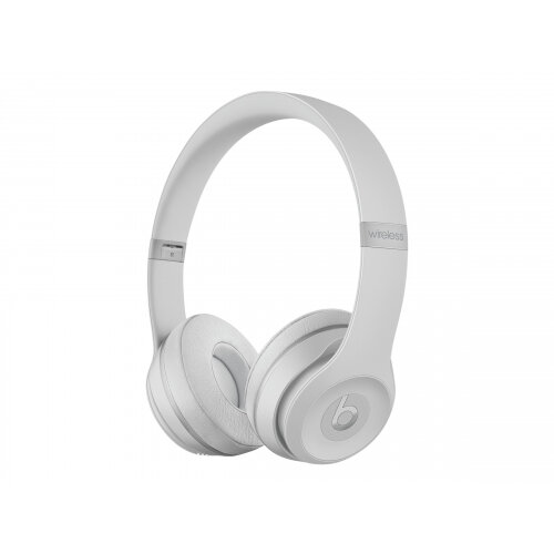 Beats Solo3 - Headphones with mic - on-ear - Bluetooth - wireless - noise isolating - matt silver - for 10.5-inch iPad Pro; 12.9-inch iPad Pro; 9.7-inch iPad; 9.7-inch iPad Pro; iPhone 7, 8, X