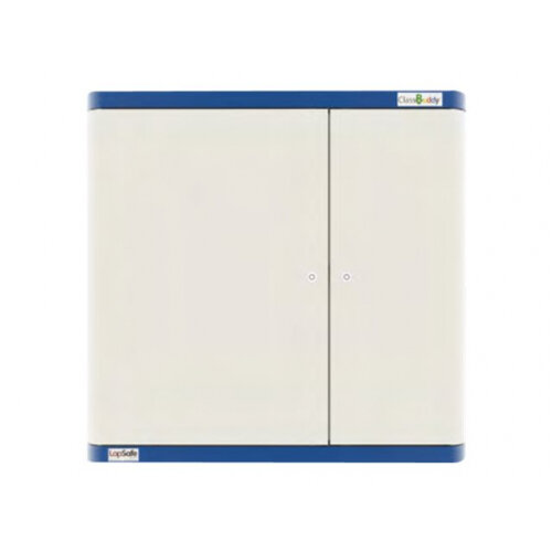 LapSafe ClassBuddy Wall 16 - Cabinet unit (charge only) for 16 tablets - lockable - steel - blue - wall-mountable