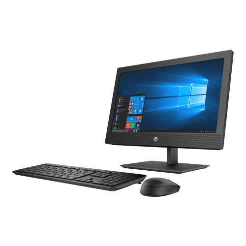 HP ProOne 400 G4 - All-in-one - 1 x Core i5 8500T / 2.1 GHz - RAM 8 GB - SSD 256 GB - NVMe - DVD-Writer - UHD Graphics 630 - GigE, Bluetooth 5.0 - WLAN: 802.11a/b/g/n/ac, Bluetooth 5.0 - Win 10 Home 64-bit - monitor: LED 20&uot; 1600 x 900 (HD+) - keyboa