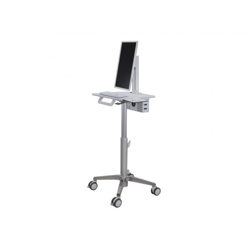 Ergotron StyleView Lean WOW SV10 - Cart for LCD display / keyboard / mouse - white, aluminium - screen size: up to 24&uot;
