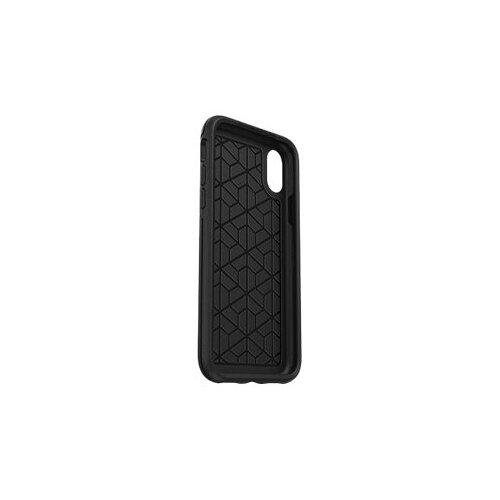 OtterBox Symmetry Series - Back cover for mobile phone - polycarbonate, synthetic rubber - black - for Apple iPhone XS